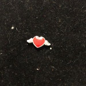 Jewelry - Charm for locket.  Heart with wings